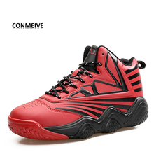 Mens Basketball Sneakers High Top Basketball Shoes For Men  Training Men Lace-up  Sport Shoes Men Basketball Herenschoenen