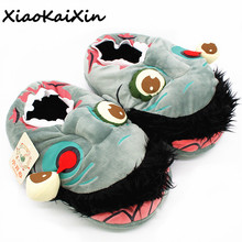 Buy Unisex Zombie Slippers Winter Warm Indoor Floor House&Home Women Men Walking Dead 3D Shoes Fit Halloween Cosplay pantufa for $14.11 in AliExpress store