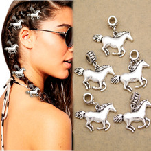 5x Horse Pony Rasta Mambo Bead Dreadlocks Dread Loc Jewelry Braid Hair Dress Clip Pins For Women Anime Wedding Accessories