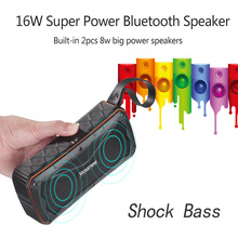 16W Super Bass Outdoor Bluetooth Speaker 4500mAH Power Bank Waterproof Portable 3D Stereo Wireless Bike Riding Speaker with Mic(China)
