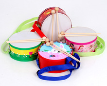 15*7CM Marching Drum Wooden Drum Percussion Child Baby Kid Teaching Aids Orff Musical Instrument Toy