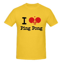 RTTMALL  Letter Printed Short Sleeve i love ping pong Adult's Tees Table Tennis O Neck Casual Summer Men Sport Family T Shirts