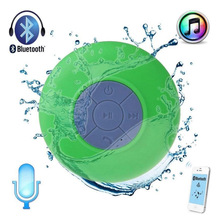 Wholesales Bluetooth Waterproof Wireless Speaker for Shower Music Player LED flashing Loudspeaker with Sucker foriPhone LG PC(China)