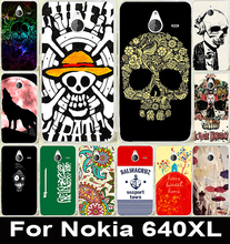Hot Cool Head Phone Skull Life Soft TPU & Hard PC Phone Cover Case For Microsoft Nokia Lumia 640XL 640 XL Shell Case Capa Para