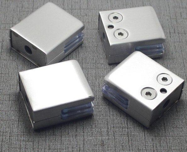 LuKLoy 304 Soporte de acero inoxidable en forma de U para paneles de cristal sin marco
