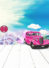 6.5ft length*5ftwidth Sunshine rose pink limousine Child Backdrops photography background 1380