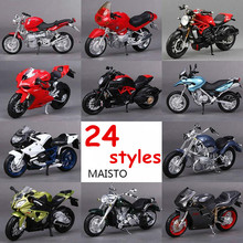 1:18 Maisto Racing Motor Cycle Metal & Alloy Kawasaki Ducati Triumph Motorcycle Model Toys Miniature Car Toy For Collection(China)