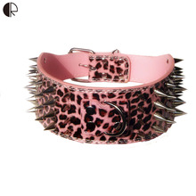 Durable Mighty Stud Large Spiked  Dog Collar For Pitbull  Pets  Harness And Leash Sets  Shop Dog  Supplies Arnes Perro HP683