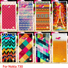 AKABEILA Soft TPU Cases For Nokia Lumia 730 N730 735 4.7 inch Effiel Towers Hard Cell Phone Cover Housings Sheaths Skins Hoods