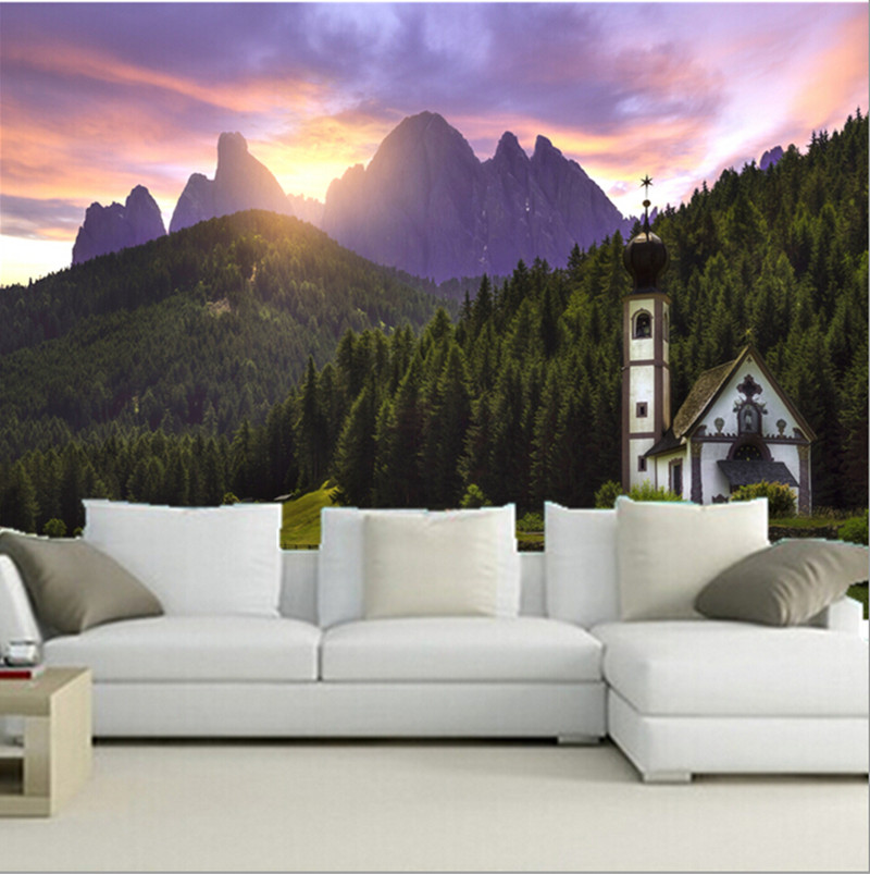 The custom 3D murals,Italy Mountain Temples Forests Nature wallpaper papel de parede,living room sofa TV wall bedroom wall paper<br>