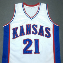 JOEL EMBIID Kansas Jayhawks Blue Basketball Jersey Embroidery Stitched Customize any size and name
