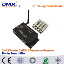 DHL Free Shipping LCD wireless DMX512 dmx controller compatible and XLR wireless transmitter and receiver