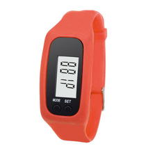 Digital LCD Pedometer Watch Women Men Run Jogging Outdoor Sport Step Walking Distance Calorie Counter Bracelet Watches L