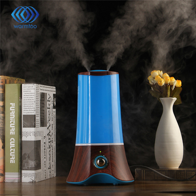 110V-220V  Wood Grain Ultrasonic Aromatherapy Humidifier Essential Oil Diffuser 1.5L Light Mist Maker Fogger US Plug<br>