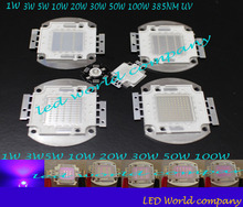 1w 3w 5w 10w 20w 30w 50w 100w UV  led  chip,Ultra Violet High power LED Chip 385nm F Aquarium