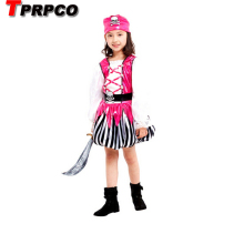 TPRPCO Children's Halloween Costumes Girls Pirate Costume Kids Sparrow Cosplay game uniforms CO61168178(China)