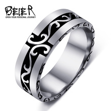 BEIER 316L Stainless Steel Man's Simple Ring 2017 New Jewelry Wholesale Factory Price BR8-297