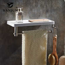Yanjun Multi-function Bathroom Shelves Shelf Bar Bathroom Accessories Wall Shelf Living Room YJ-8831(China)