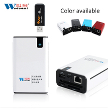 3G WIFI Router Wireless Card Reader TF/SD/MS/CF Power Bank 6000mah For Any Smart phones USB Network Storage