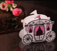 Free Shipping 100pcs/lot Wedding Favor Lovely Princess Pumpkin Carriage Candy Box Lower Price Promotion