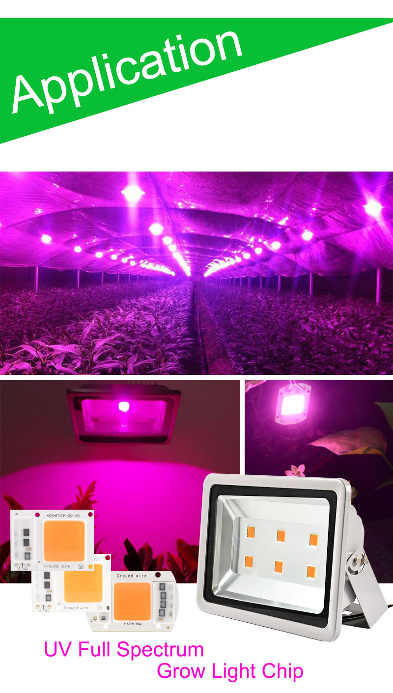 smart ic integrated led grow light lamp chip cob uv full spectrum