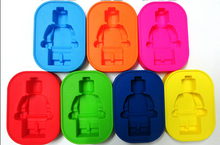 Lego New Robot People Figure Silicone Mould Chocolate Cake Baking Fondant Decorating Ice Cube Tray A559
