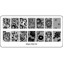 Stamping Plate Nail Art Stamp Template Image Plate Template Manicure Nail Tool Lace Sunflower Butterfly Leaf Design Dijit-02