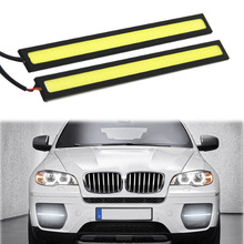 2017 Hot selling New    2PC Waterproof Aluminum Xenon White COB LED Daytime Driving Light Lamp very nice Vicky
