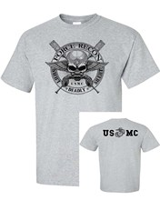Men Summer Short Sleeves Top Tee Marine Force Recon Front and Back Men's SHIPS FROM OHIO USA T shirt(China)