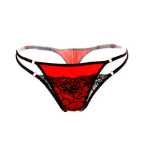 Buy Free shipping women thongs g strings sexy underwear lace panties g string thong string calcinha lingerie bandage tanga panty vs