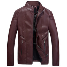 Buy 2018 men's fashion pure color leather jacket Cultivate one's morality locomotive velvet youth leisure leather for $12.78 in AliExpress store