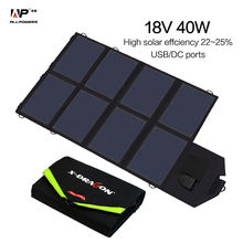 ALLPOWERS Portable Foldable Solar Panel Charger 40W18V 5V Dual Ports Solar Charger for Phone Tablet Laptops and 12V Car Battery.