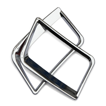 Car Accessories central air-conditioning outlet cover ABS chrome plate For Hyundai Solaris accent sedan hatchback 2011-2015