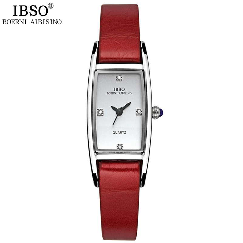 IBSO Dress Elegant Genuine Leather Strap The Woman Watch Date Fashion Top Quality Ladies Watch Party Waterproof Relogio Feminino<br><br>Aliexpress