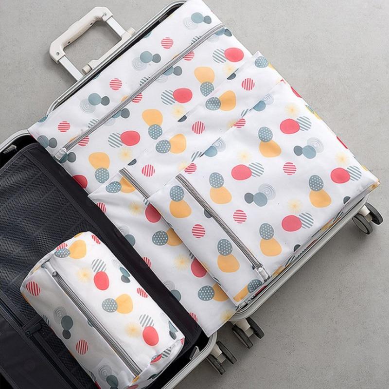 Blanco Bolsa de lavander/ía Bordado Red Fina Espesar Bolsa de lavander/ía Sujetador Ropa Interior Calcetines M/áquina de Lavado Bolsa de protecci/ón Bolsas
