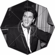 W530L4  Hot Sale Fashion Custom elvis presley singer art  Umbrella Sunny and Rainy Sunscreen Anti-uv Umbrella F-L4