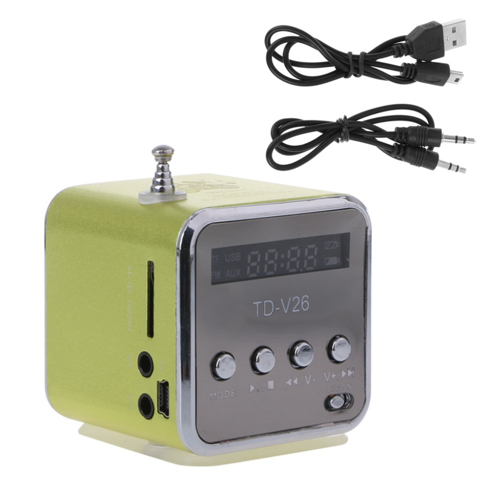 New Micro SD TF USB Mini Speaker Music Player Portable FM Radio Stereo PC MP3