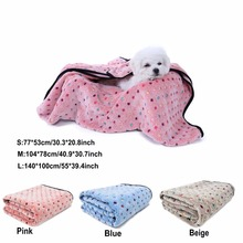 Cute Soft Blanket For Dogs Colorful Dot Blanket 3 Colors Mat 3 Sizes Free Shipping Pet Towels For Animals Cat Great Quality(China)