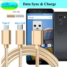 1M Micro USB Sync Charger Cable, Type-C Cable for Wileyfox Swift 2 X 2 Plus/Storm /Spark X /Swift /Spark /Spark+ Charging Cable