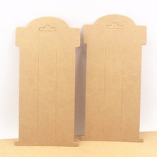 Buy 100pcs/lot 16*8cm Kraft Paper Hair Clip Cards Blank Hairpin/Accessory Packaging Cards for $10.44 in AliExpress store