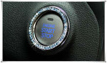 Hot sale Car Diamond Ignition Switch Decoration Key Ring Sticker Accessories For Dacia duster logan sandero stepway lodgy mcv 2