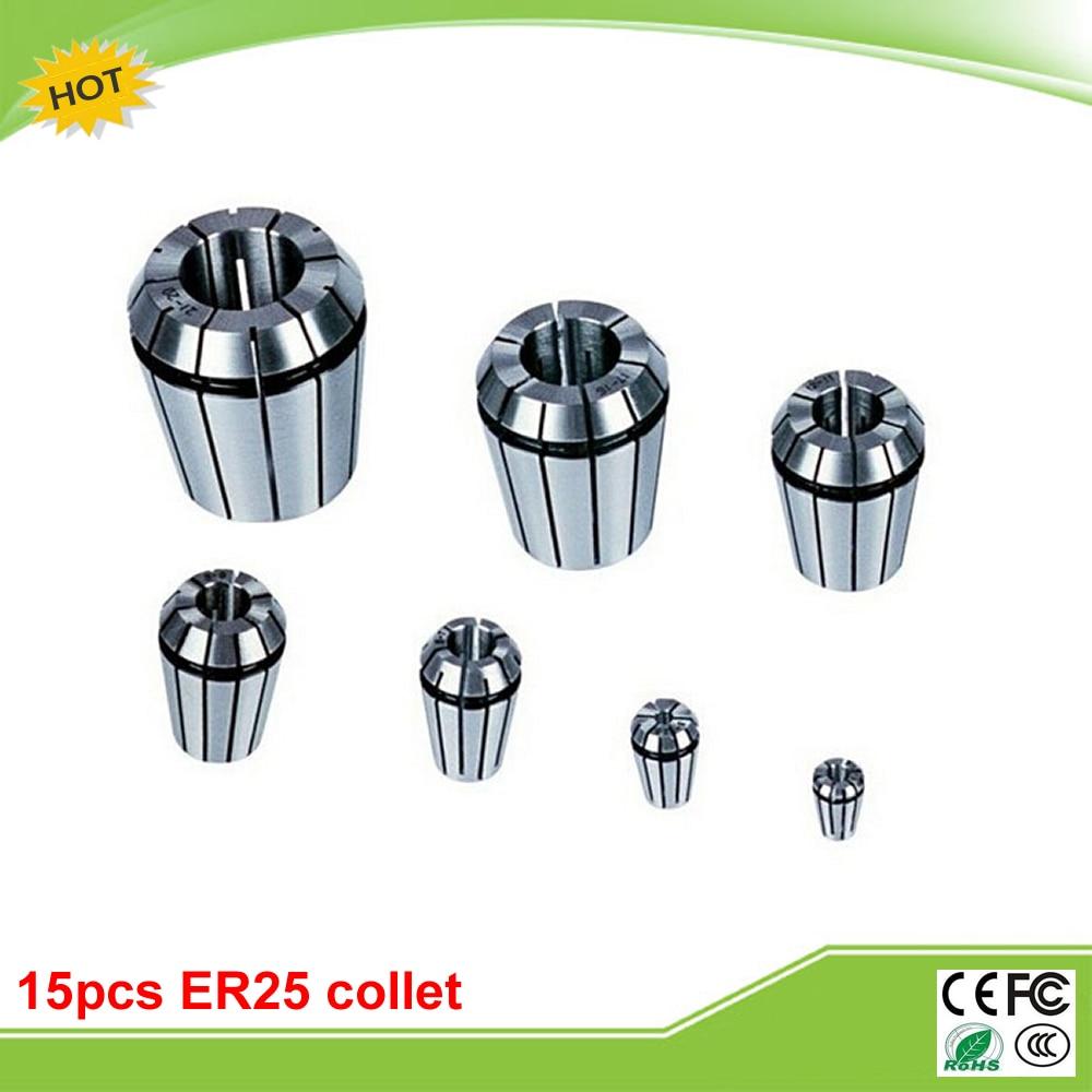 15pcs/set ER25 spring collet cutter holders for CNC engraving machine<br>