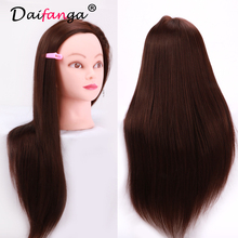 "22"" Female Mannequin Head With Human Hair Training Doll Head Manikin Head Hair Styling for Hairdresser Practice Salon Mannequins"