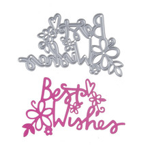 104*68mm Lovely Best Wishes New scrapbooking DIY Craft Metal steel cutting dies Stencils Book photo album art card Dies Cut