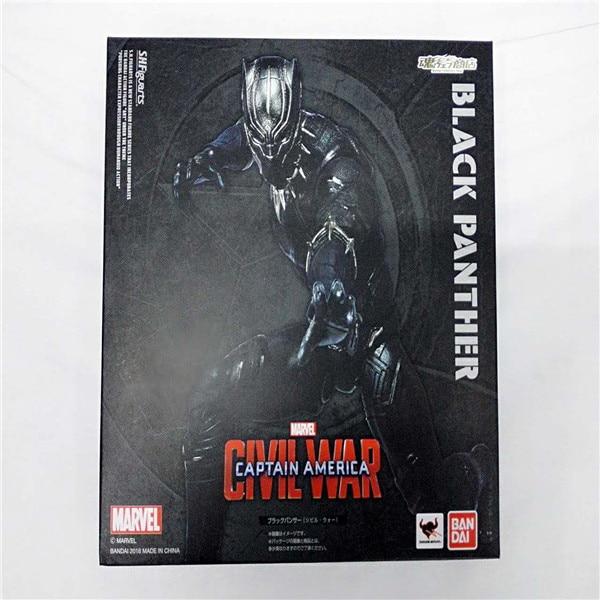 Marvel SHFiguarts Captain America Civil War Black Panther / Ant Man PVC Action Figure Collectible Model Toy<br>