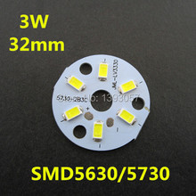 10 pcs/lot 3W 5630/ 5730 Brightness SMD Light Board LED Lamp Panel For Ceiling PCB Pre-soldered LEDs