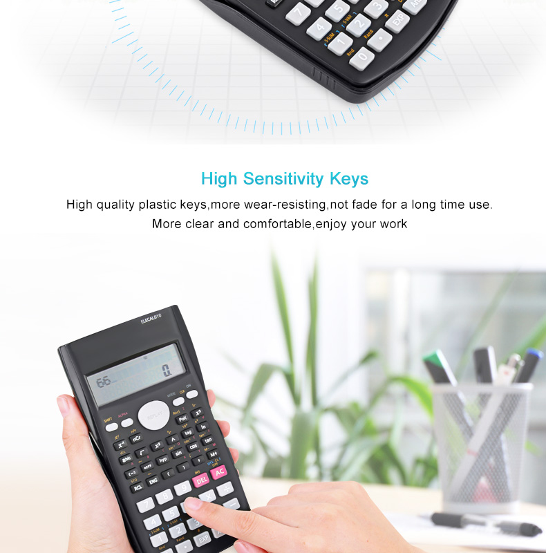 EASYIDEA Scientific Calculator 12 Digits Student Calculadora 240 Multi-function Calculator Cientifica 2 Line LCD Display 6