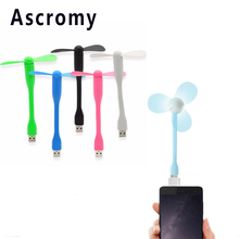 Ascromy Mini USB Fan with Micro USB OTG Adapter Cable Adaptador For Xiaomi Redmi 4 Pro 3s note 4X MicroUSB Android Tablet Phones