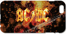 ACDC AC DC Band Logo Mobile Cell Phone Case Plastic Hard Cover For iphone 4 4S 5 5S SE 5C 6 6S Plus For iPod Touch 4 5 6 Cases
