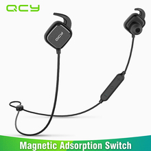 2017 QCY QY12 magnetic switch sports headphones wireless Bluetooth earphones swearproof running headset gamer earbuds with MIC(China)